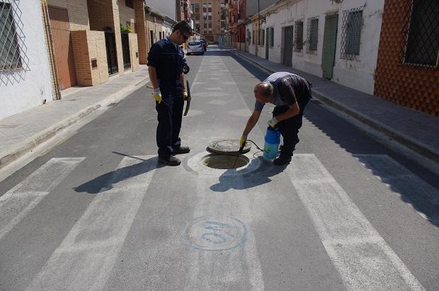 Xirivella. desinfección red saneamiento
