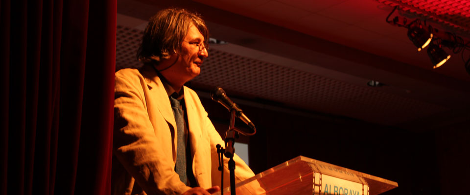 Jimmy Entraigües,  durante el reciente festival de cortometrajes Alboraya en Curt,  dirigido por él. Foto: Hortanoticias