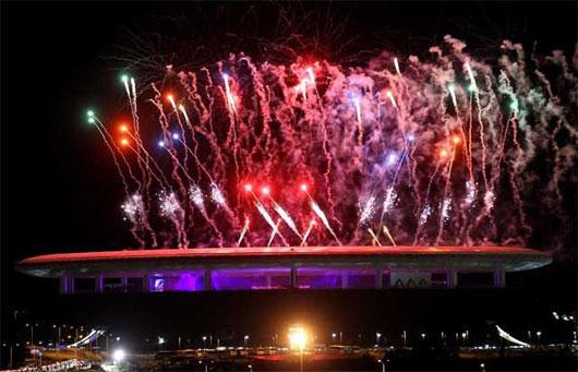 Fuegos artificiales de Ricasa en los pasados Juegos Panamericanos.