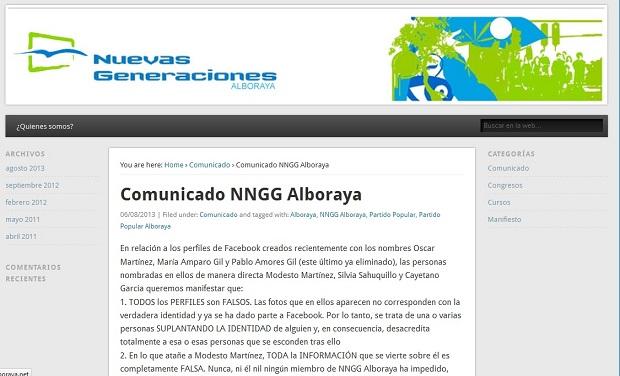Alboraya. NNGG PP Alboraya