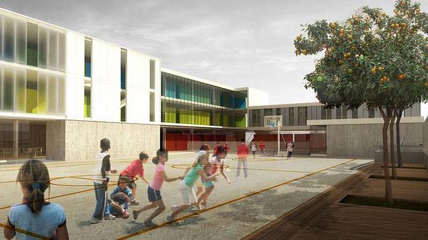 Imágenes del proyecto arquitectónico del CEIP San Juan de Ribera.