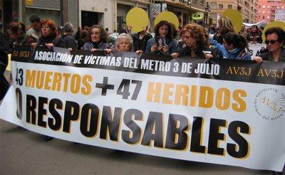 Accidente Metro Valencia. Manifestación