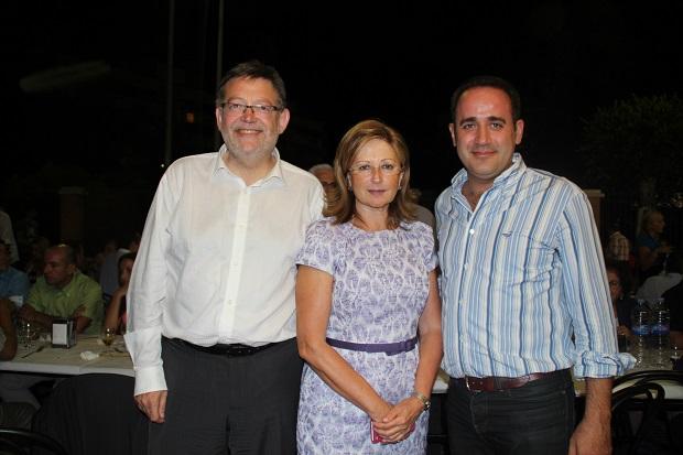 Alaquas. Alarte y Puig con alcaldesa Elvira Garcia