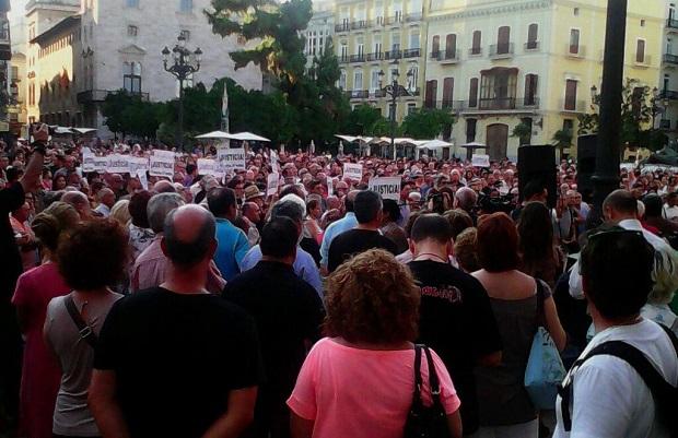 Concentración en apoyo a la víctimas del Metro el pasado 3 de septiembre.