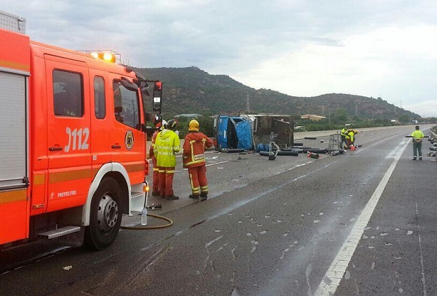 El Puig. accidente camión nitrogeno