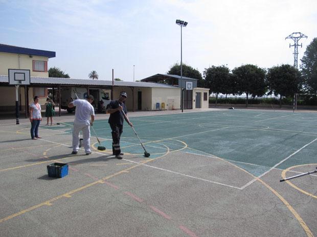 El Ayuntamiento ha realizado obras en los colegios este verano.