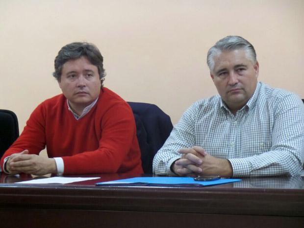 El subdelegado del Gobienro junto al alcalde de Meliana.