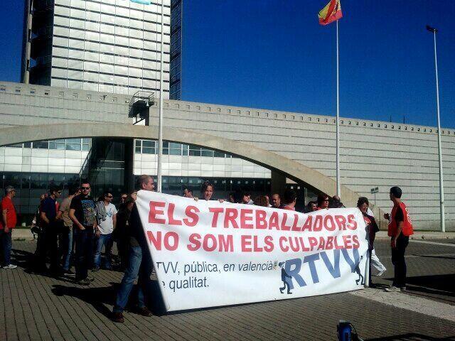 Imágenes de archivo de las protestas contra el cierre de RTVV.