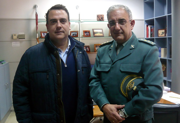 Massamagrell. Visita Comandante jefe guardia civil