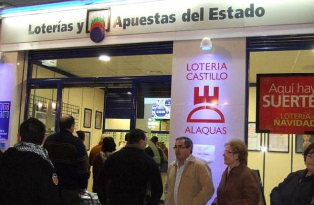 Lotería de Navidad. Alaquas. administracion de loteria numero 1