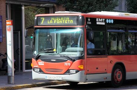 Mislata. Autobús línea 7 EMT