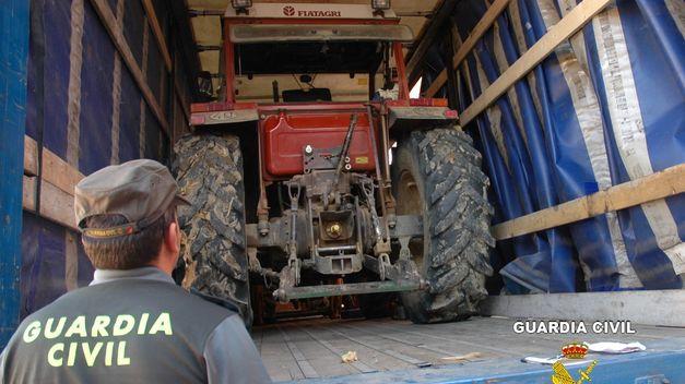 Horta. detenidos tractores explotaciones agricolas