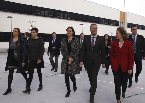 Torrent. Fabra,  Catala,  Folgado en inauguración CEIP Les Terretes