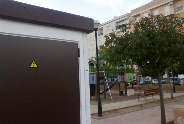 Albal. Caseta electrica. parque de San Carlos