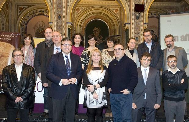 Diputación. Presentación programación cultural 2014. María Jesús Puchalt. Cristobal Grau. Antonio Lis