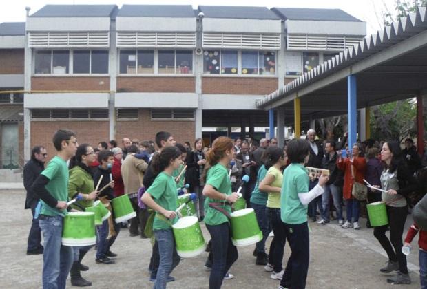 Alboraya. Colegio Cervantes. Jornada Puertas Abiertas. Batucada