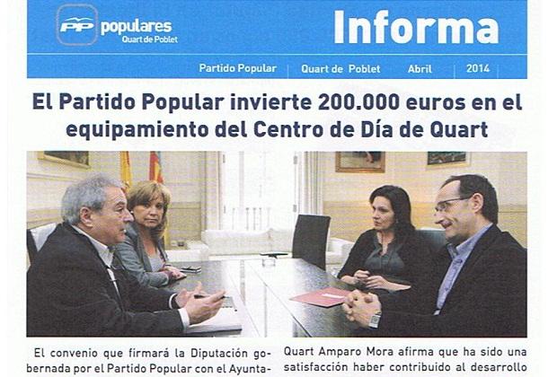 Quart de Poblet. Centro de Día. Publicación PP