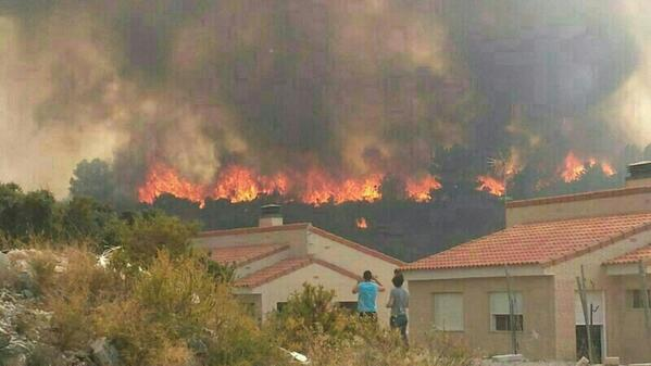 Torrent. Incendio Forestal. Cumbres de Calicanto 1