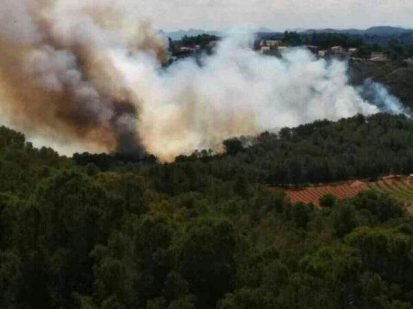 Torrent. Incendio forestal. Desde Urbanizacion El Bosque