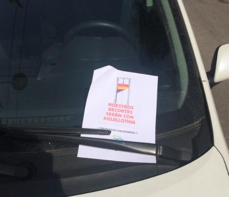 Torrent. PP Torrent. cartel amenzas presidente Nuevas Generaciones