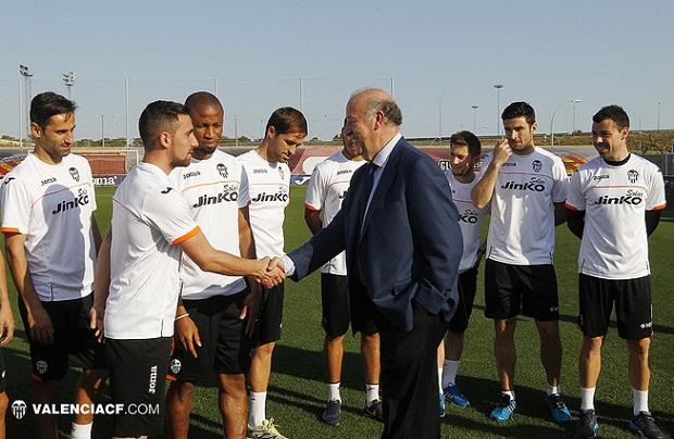Valencia CF. Paco Alcacer. Vicente Del Bosque