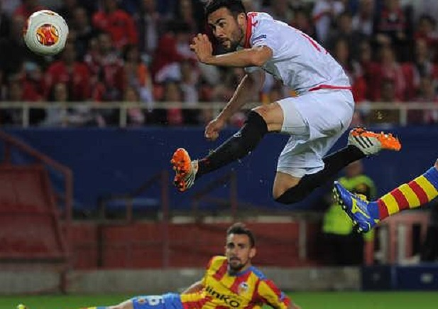 Valencia CF. Sevilla CF. Iborra. Alcácer