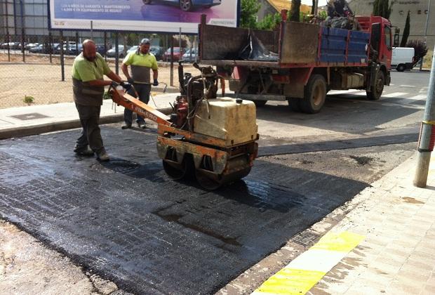 Massanassa. obras. asfaltado