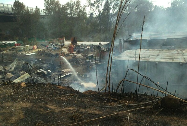 Paterna. Incendio Parc Natural del Turia