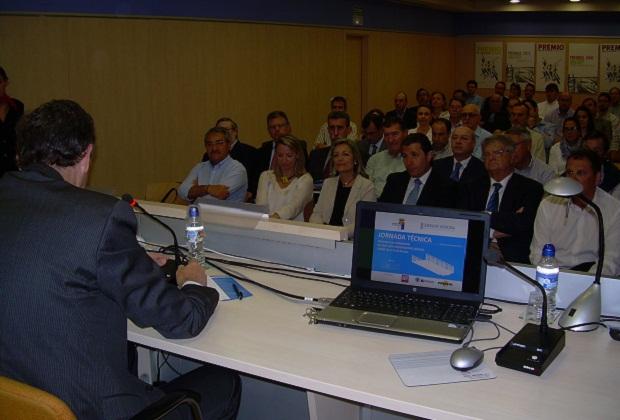 Puçol. Jornada sobre Pasarela V-21. Colegio de Ingenieros de Caminos,  Canales y Puertos en la Comunidad Valenciana