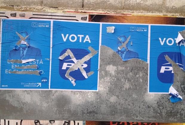 Quart de Poblet. Elecciones Europeas. Carteleria PP
