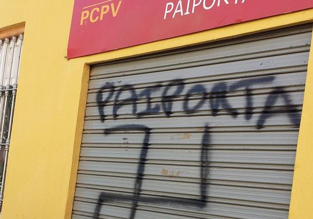 paiporta-PCPV-ataque-sede-pintada-nazi
