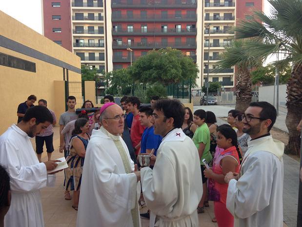 arzobispo Carlos Osoro en La Coma