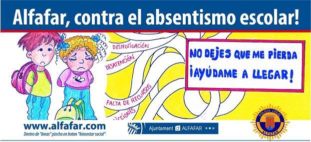 campaña absentismo escolar alfafar