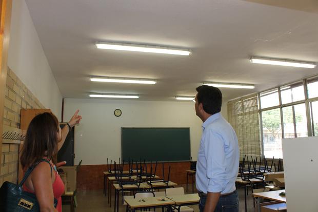 iluminación colegios alfafar
