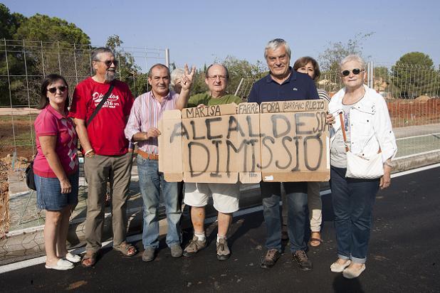 protesta vecinal calle 133