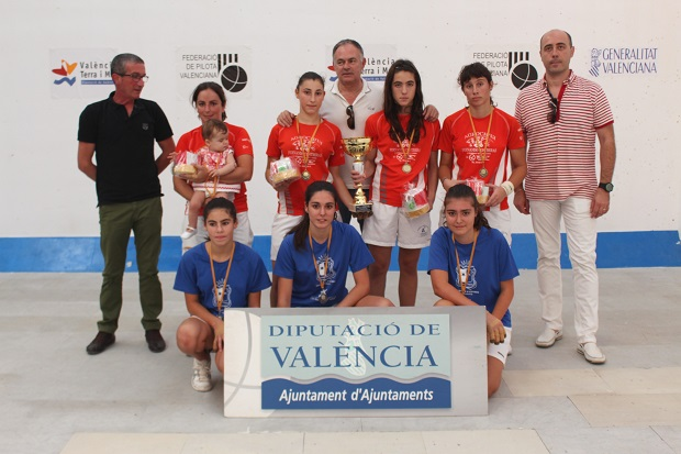 Beniparell. finalistes SUPERCOPA femenina de raspall 2014