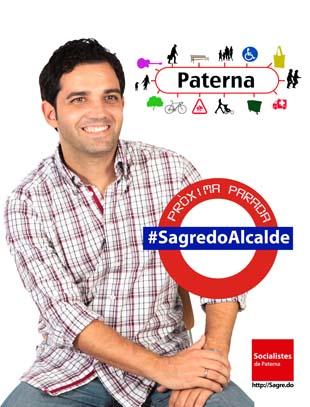 cartel campaña sagredo alcalde paterna