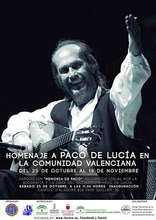 cartel homenaje Paco de Lucía en Alaquàs