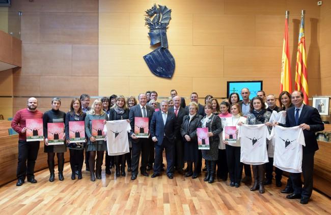 Diputación. Presentación carreras contra el cancer