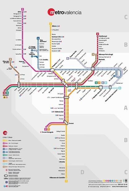 Plano zonal Metrovalencia 2015 Nuevo