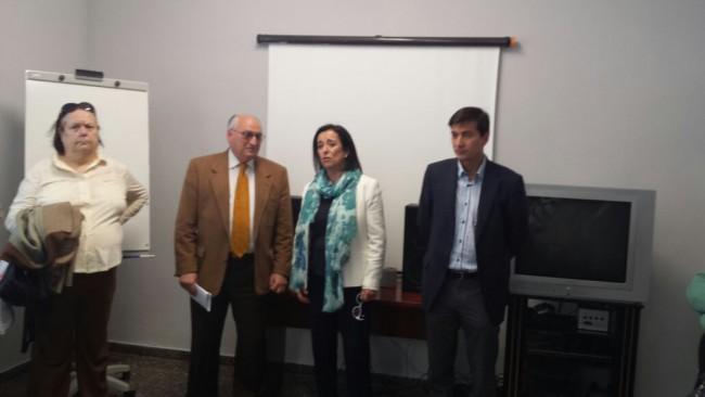 Con Pilar Collado y Rafa Garcia