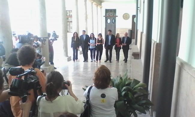 AVM3J. Pacto PSPV,  Esquerra Unida,  Compromís,  Ciudadanos,  Podemos y UPyD