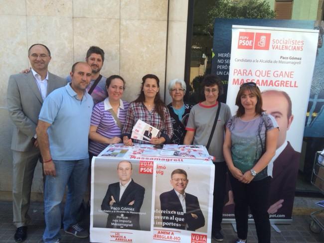 Massamagrell. PSPV. reparto electoral