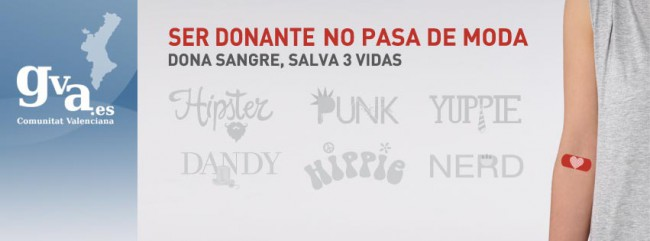 cartel. donantes de sangre