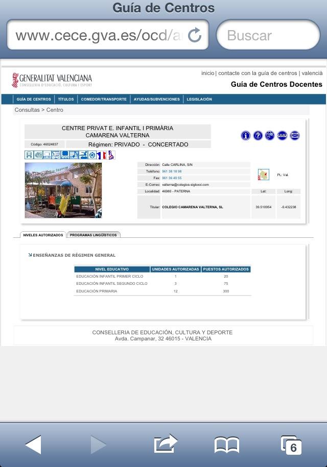 Web conselleria de Educación