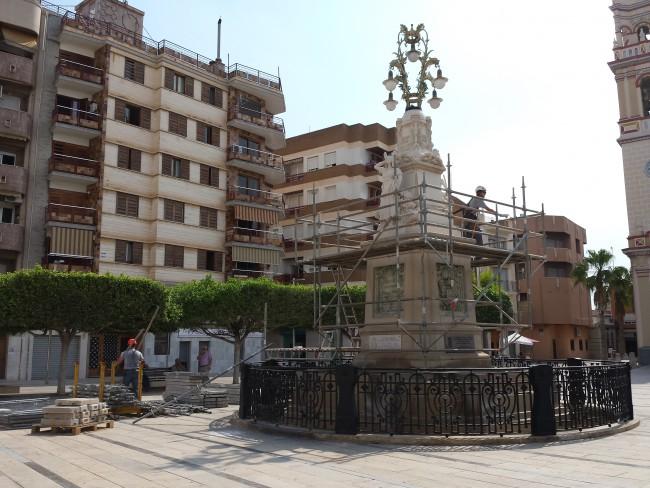 restauración monumento agua alfafar