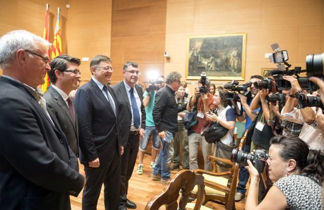 Toma posesión nueva corporación Diputación de Valencia Puig,  Morera y Ribo