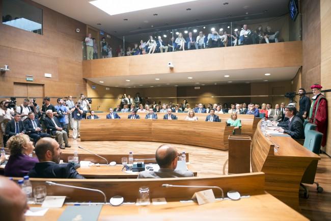 Toma posesión nueva corporación Diputación de Valencia plenario