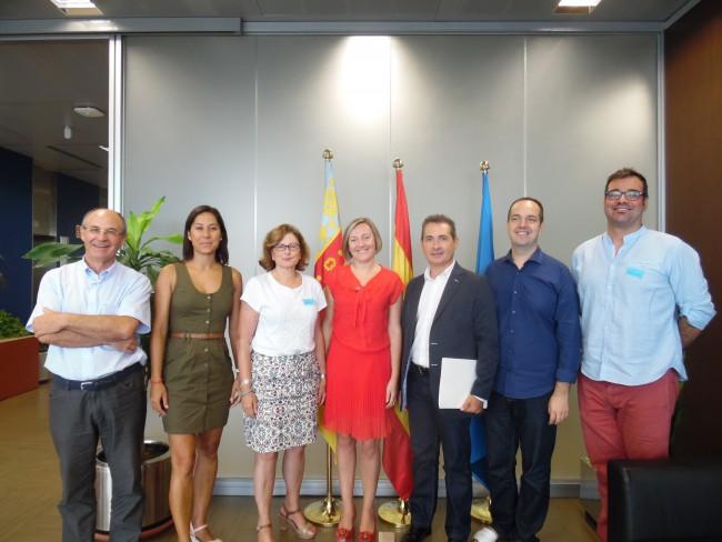 Infraestructuras. Reunión consellera y alcaldes Aldaia,  Xirivella y Alaquas