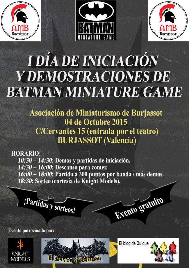 Cartel AMB I Jornada Batman Game 4-10-2015